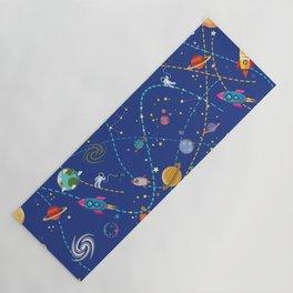 Space Rocket Pattern Yoga Mat