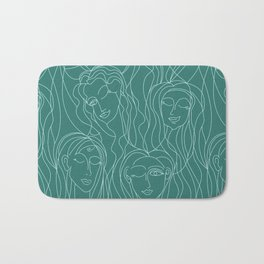 Green Ladies Bath Mat
