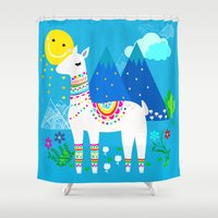 peru Shower Curtains featuring Peru Blue Skies by MY  HOME
