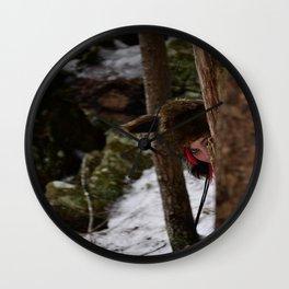 Peek-a-boo Wall Clock