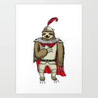 sloth Art Prints featuring Sloth  by Artifact Supply