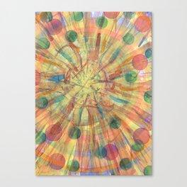 Ball Explosion Canvas Print