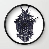 clockwork Wall Clocks featuring Clockwork by Jamie Bryan