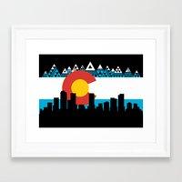 colorado Framed Art Prints featuring COLORADO by Love Life Creative