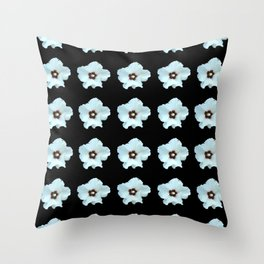 white flower -bloom,blossom,petal,floral,leaves,flor,garden,nature,plant. Throw Pillow