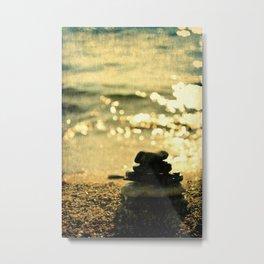 Balanced Pebbles On The Seaside Metal Print