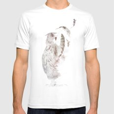 Fade-out White MEDIUM Mens Fitted Tee