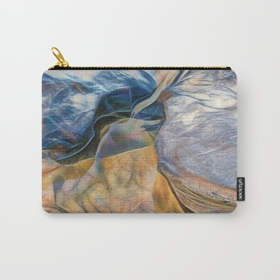 Abstract beautiful rocks on the sand Carry-All Pouch