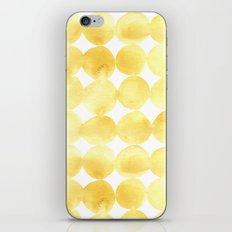 Imperfect Geometry Yellow Circles iPhone & iPod Skin