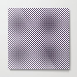 Loganberry and White Polka Dots Metal Print