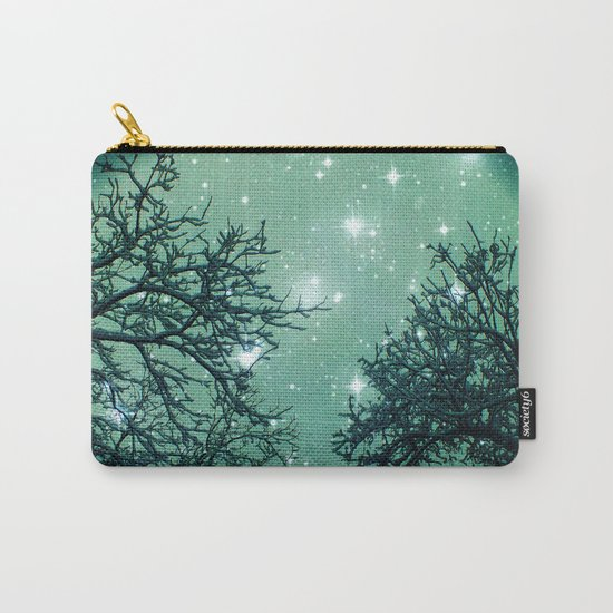 Aqua Skies N Stars Through The Trees Carry-All Pouch