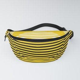 Optical Hypnotic Illusion 2 - Yellow Gold & Black & White Fanny Pack