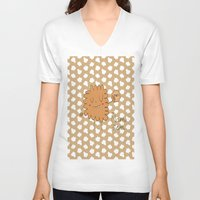 cookie V-neck T-shirts featuring Cookie by EnelBosqueEncantado