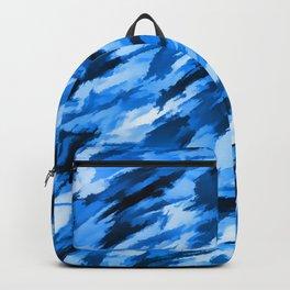 Blue Designer Camo Backpack