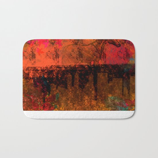 little horse and the town, colors Bath Mat