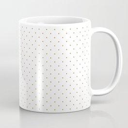 Minimal Gold Polka Dots Coffee Mug