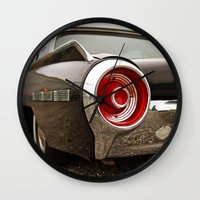 ford Wall Clocks featuring Ford Americana by Vorona Photography