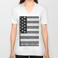 flag V-neck T-shirts featuring Flag by Keith Dotson