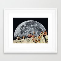 constellation Framed Art Prints featuring MOONRISE  by Beth Hoeckel