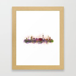 Berlin City Skyline HQ1 Framed Art Print