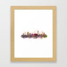 Berlin City Skyline HQ1 Framed Art Print