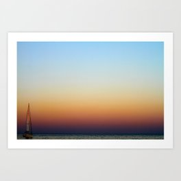 Single Sailboat Art Print