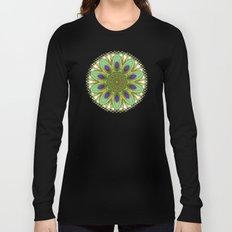 Peacock Healing Light Mandala Long Sleeve T-shirt