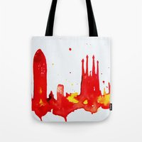 barcelona Tote Bags featuring Barcelona by Talula Christian