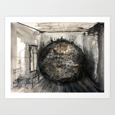 world in the room Art Print