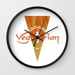 Vegetarian Monogram [Triangle] Wall Clock