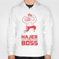boss Hoodies featuring Hajer Boss by Krzysztof Kaluszka