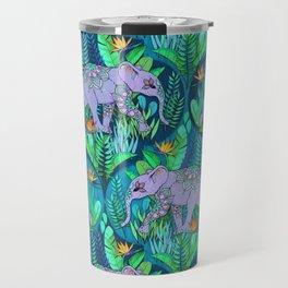 Little Elephant on a Jungle Adventure Travel Mug