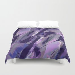 Thunder Plum Abstract Duvet Cover