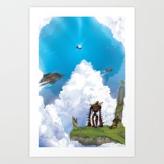 Flying Castle Art Print