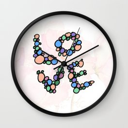 Neverending Circle Love Wall Clock