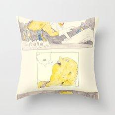the awakening of bart as tetsuo Throw Pillow