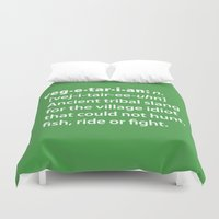 vegetarian Duvet Covers featuring Vegetarian definition dictionairy by Laundry Factory