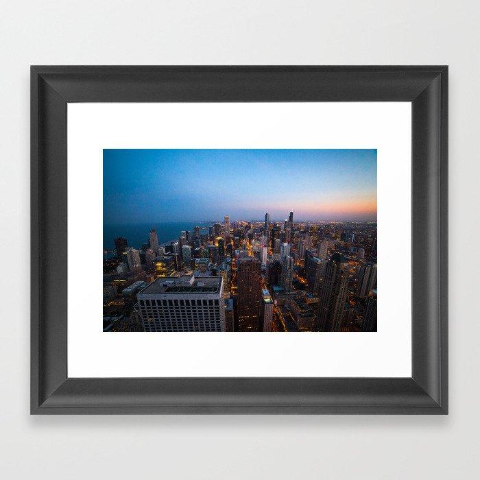 Chicago Skyline - Dusk Framed Art Print