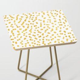 Gold Sprinkles Side Table