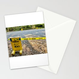Polar Bear Zoo Rona Closed Parking Police Caution Tape Stationery Cards