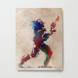 American football player 2 Metal Print