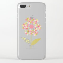 Dot Flower Clear iPhone Case