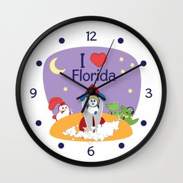 Ernest and Coraline | I love Florida Wall Clock