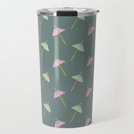 Cocktail Umbrella Pattern Travel Mug