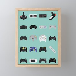 Console Evolution Framed Mini Art Print