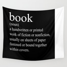 Book Definition (White on Black) Wall Tapestry