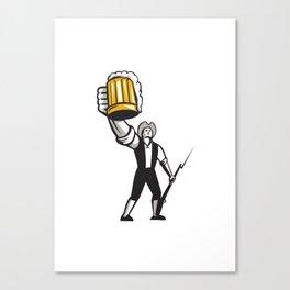 American Patriot Craft Beer Musket Bayonet Retro Canvas Print