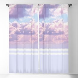 Dreamy Pastel Sky on Violet Blackout Curtain