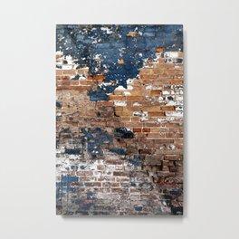Blue Wall Blues Metal Print