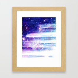 Streaks in Space Framed Art Print